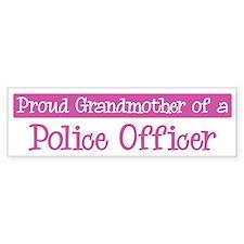 Grandmother of a Police Offic Bumper Bumper Sticker
