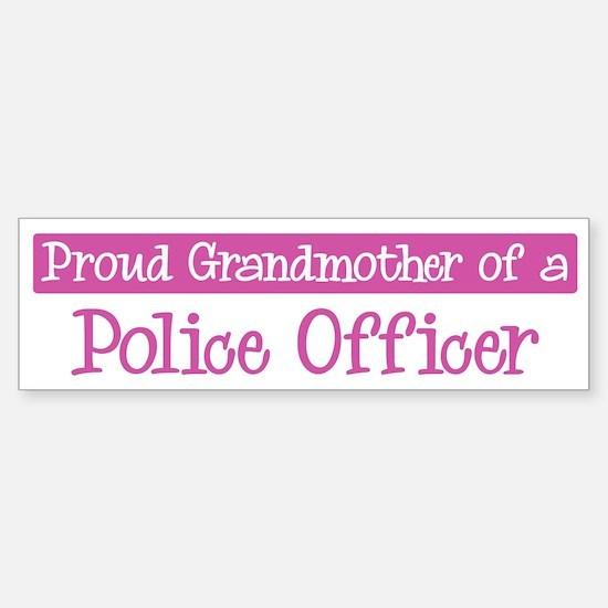 Grandmother of a Police Offic Bumper Car Car Sticker