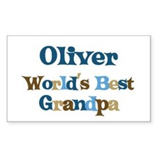 Oliver - Best Grandpa Rectangle Decal