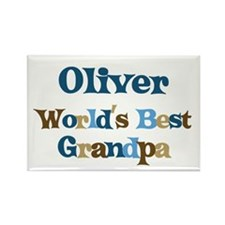 Oliver - Best Grandpa Rectangle Magnet