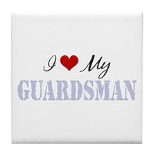 I Love My Guardsman Tile Coaster