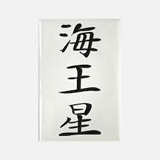 Neptune - Kanji Symbol Rectangle Magnet