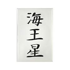 Neptune - Kanji Symbol Rectangle Magnet (100 pack)