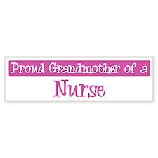 Grandmother of a Nurse Bumper Car Sticker