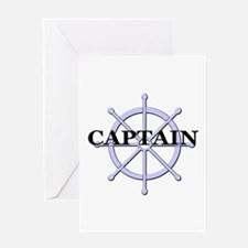 Captain Ship Wheel Greeting Card