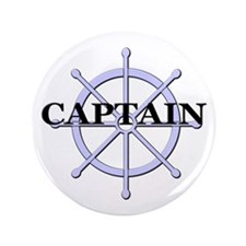 "Captain Ship Wheel 3.5"" Button"