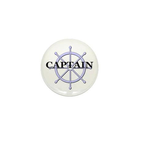 Captain Ship Wheel Mini Button (10 pack)