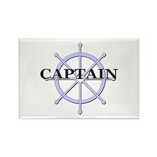 Captain Ship Wheel Rectangle Magnet