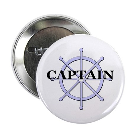 """Captain Ship Wheel 2.25"""" Button"""