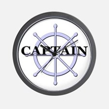 Captain Ship Wheel Wall Clock
