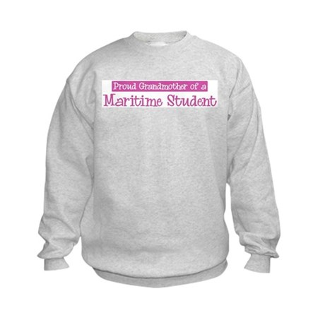Grandmother of a Maritime Stu Kids Sweatshirt