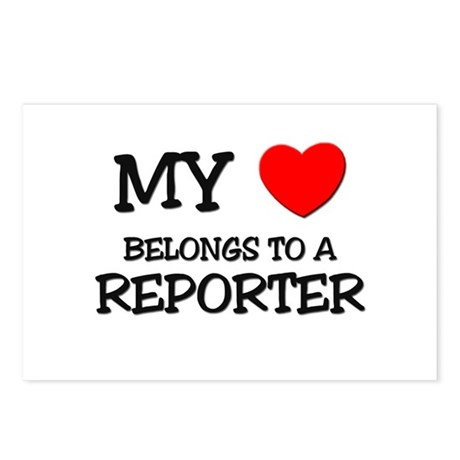 My Heart Belongs To A REPORTER Postcards (Package
