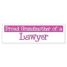 Grandmother of a Lawyer Bumper Car Sticker