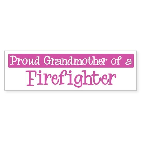 Grandmother of a Firefighter Bumper Sticker