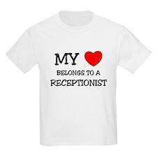 My Heart Belongs To A RECEPTIONIST T-Shirt