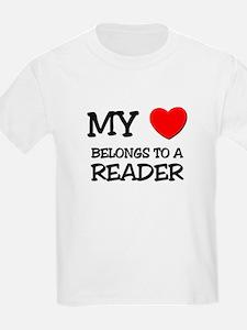My Heart Belongs To A READER T-Shirt