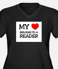 My Heart Belongs To A READER Women's Plus Size V-N