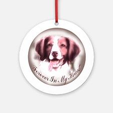 Brittany Spaniel Memory Ornament (Round)