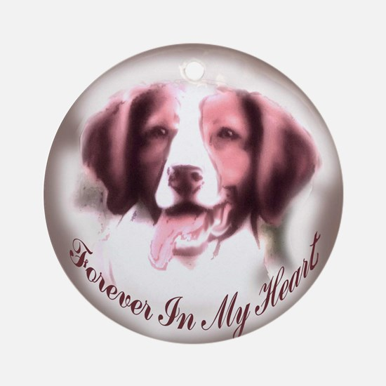 Brittany Spaniel Memory Ornament (Round)