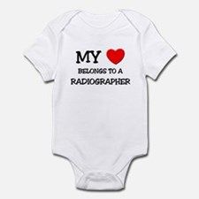 My Heart Belongs To A RADIOGRAPHER Infant Bodysuit