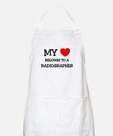 My Heart Belongs To A RADIOGRAPHER BBQ Apron