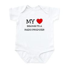 My Heart Belongs To A RADIO PRODUCER Infant Bodysu