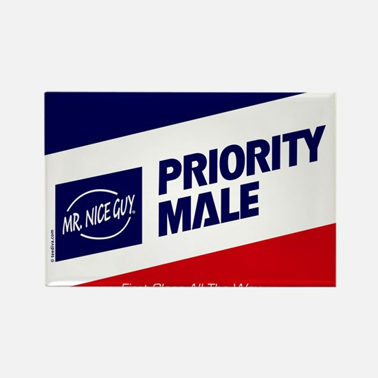 Priority Male Rectangle Magnet