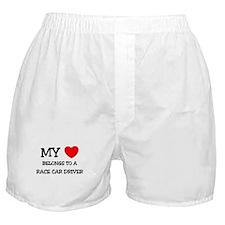 My Heart Belongs To A RACE CAR DRIVER Boxer Shorts