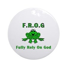 F.R.O.G. - Fully Rely on God Ornament (Round)