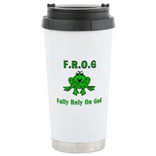 F.R.O.G. - Fully Rely on God Travel Mug