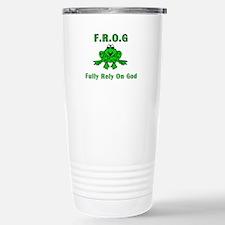 F.R.O.G. - Fully Rely on God Travel Mug