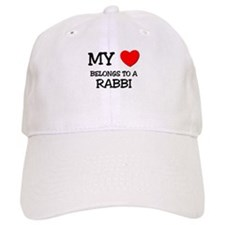 My Heart Belongs To A RABBI Baseball Cap