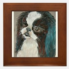 """Yagi"" a Japanese Chin Framed Tile"
