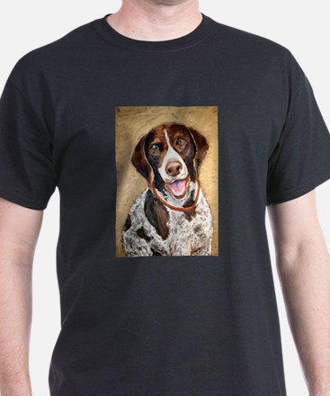 A German Shorthaired Pointer Black T-Shirt