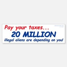 20 Million Aliens (Bumper Sticker)