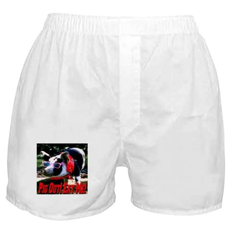 Pig Out! Eat Me! Boxer Shorts
