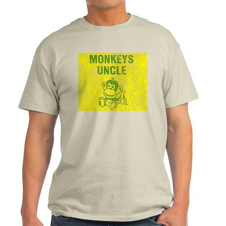 Monkeys Uncle Distressed Look Light T-Shirt