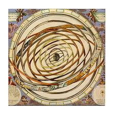 Vintage Celestial, Planetary Orbits Tile Coaster