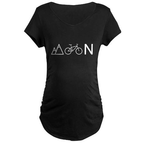 Mountain Biking I Maternity Dark T-Shirt