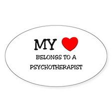 My Heart Belongs To A PSYCHOTHERAPIST Decal