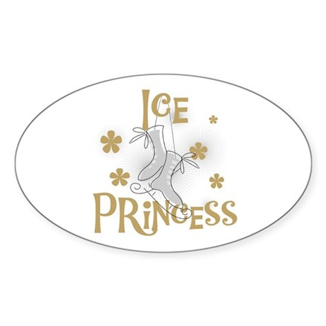 Ice Princess Oval Sticker
