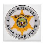 Mid Missouri Drug Task Force Tile Coaster