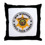 Mid Missouri Drug Task Force Throw Pillow