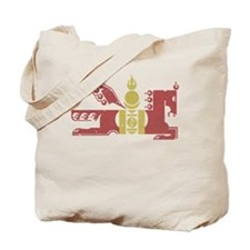 Mongol Horse Distressed Tote Bag