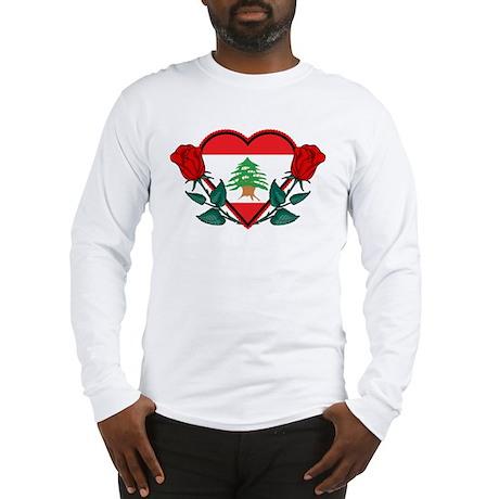 Heart Lebanon Long Sleeve T-Shirt