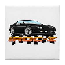 Black Camaro IROC-Z Tile Coaster