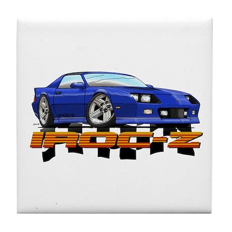 Blue Camaro IROC-Z Tile Coaster