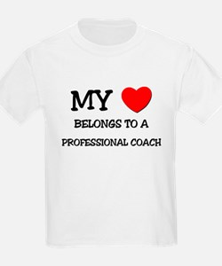 My Heart Belongs To A PROFESSIONAL COACH T-Shirt