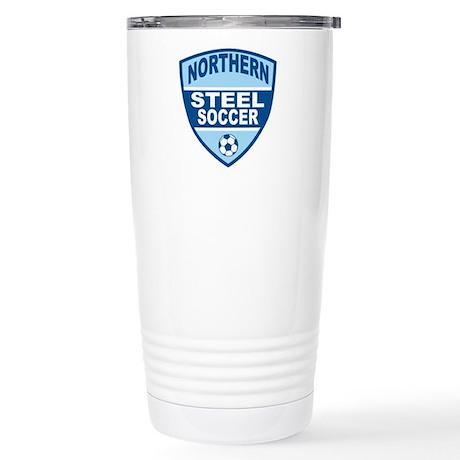 Northern Steel Soccer Stainless Steel Travel Mug