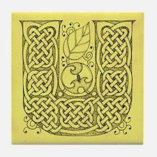 Celtic Letter U Tile Coaster